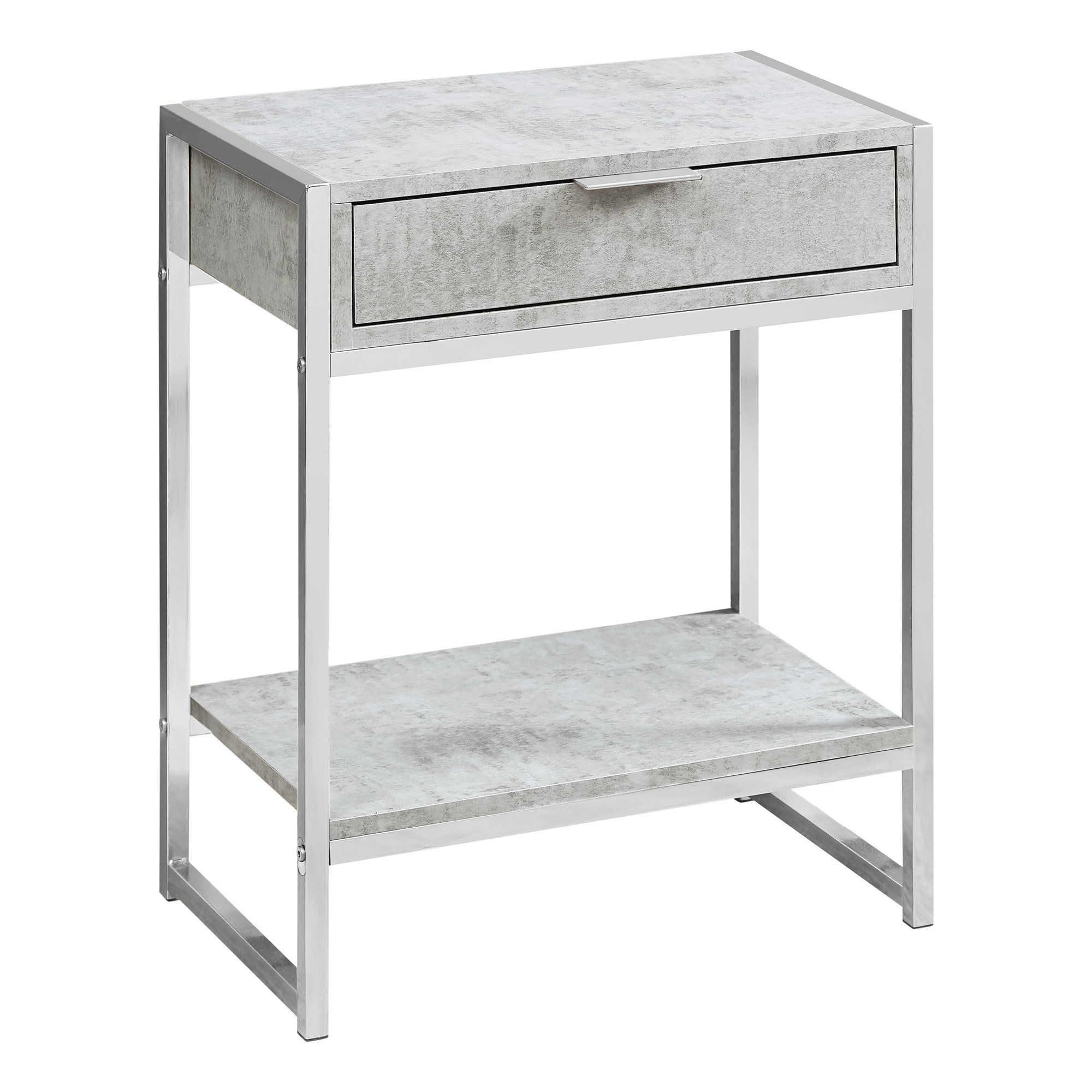 monarch specialties grey cement drawer accent table the classy home mnc click enlarge outdoor furniture couch clear ashley high top dining gear lamp large corner white and bedside