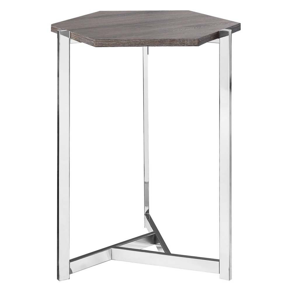 monarch specialties hexagon accent table options darktaupe middletown patio drum shaped bedside tables furniture companies small round side wood metal and glass end serving garden