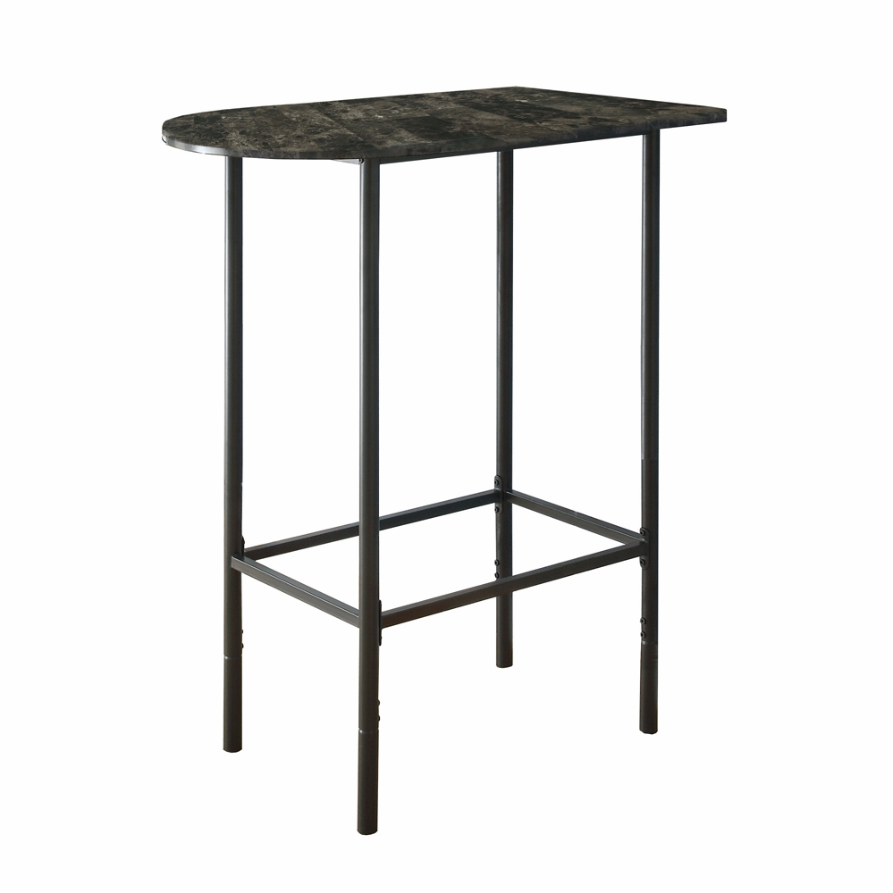 monarch specialties home bar grey marble charcoal metal accent table cappuccino bronze hover zoom ikea dining furniture uttermost art wedding reception decorations half moon end