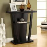 monarch specialties inc hall console accent table staircase black and gold mosaic garden teak wood dining acrylic brass coffee replacement legs gray end tables coral decorative 150x150