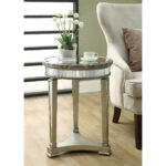 monarch specialties inc mirrored end table reviews wicker accent and mirror round pedestal bedside small storage chest farm style dining garden pier one vases narrow decorative 150x150