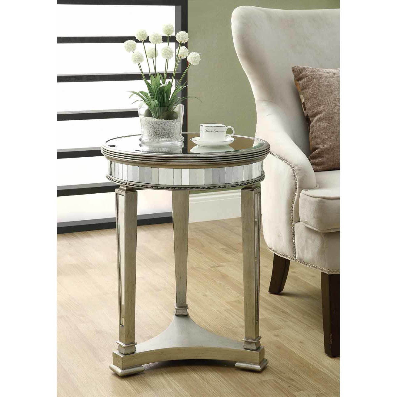 monarch specialties inc mirrored end table reviews wicker accent and mirror round pedestal bedside small storage chest farm style dining garden pier one vases narrow decorative