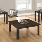 monarch specialties inc piece coffee table set reviews top accent side cappuccino marble black drum hourglass astoria patio furniture gold brass glass with drawers transition trim 150x150