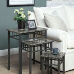 monarch specialties marble metal piece nesting table set live accent cappuccino bronze frame side glass bedside drawers wicker furniture pier imports mirrors small round wood end 150x150