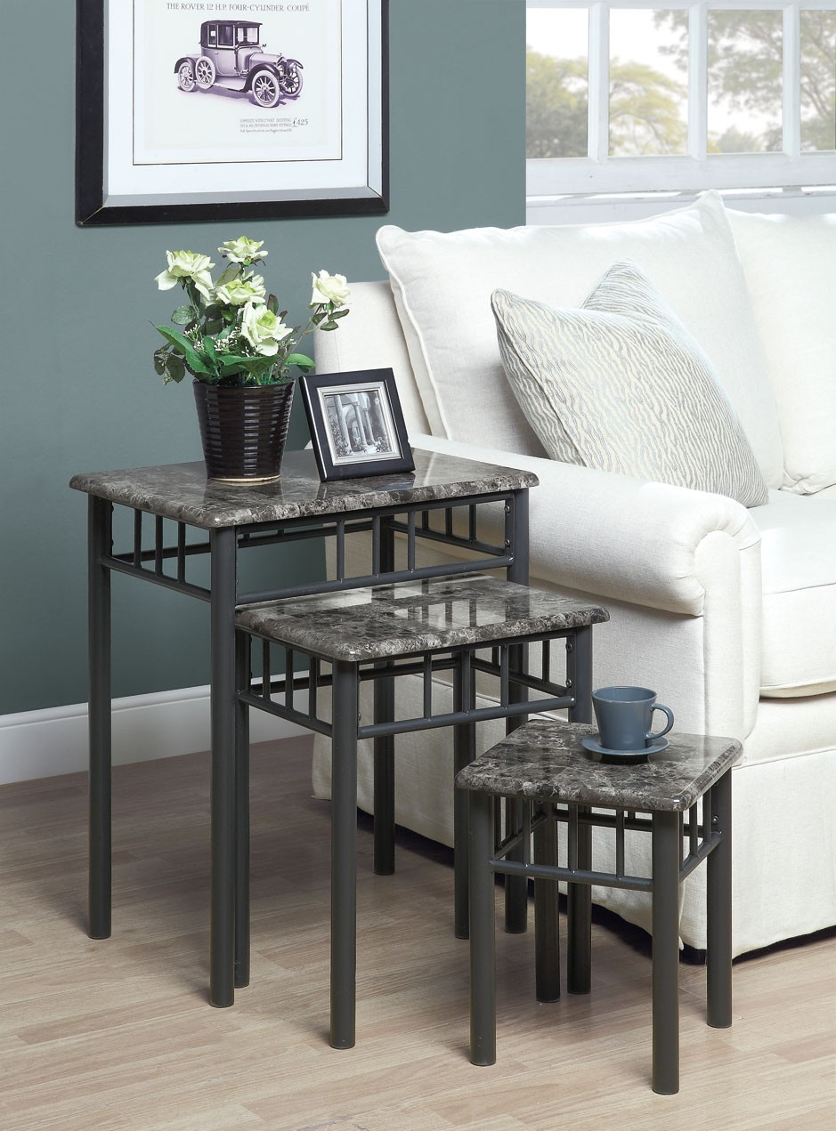 monarch specialties marble metal piece nesting table set live accent cappuccino bronze frame side glass bedside drawers wicker furniture pier imports mirrors small round wood end
