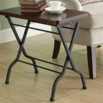 monarch specialties metal folding accent table cherry bmduel outdoor charcoal black kitchen dining pottery barn reading lamp orange side set storage box seat ikea small drop leaf 150x150