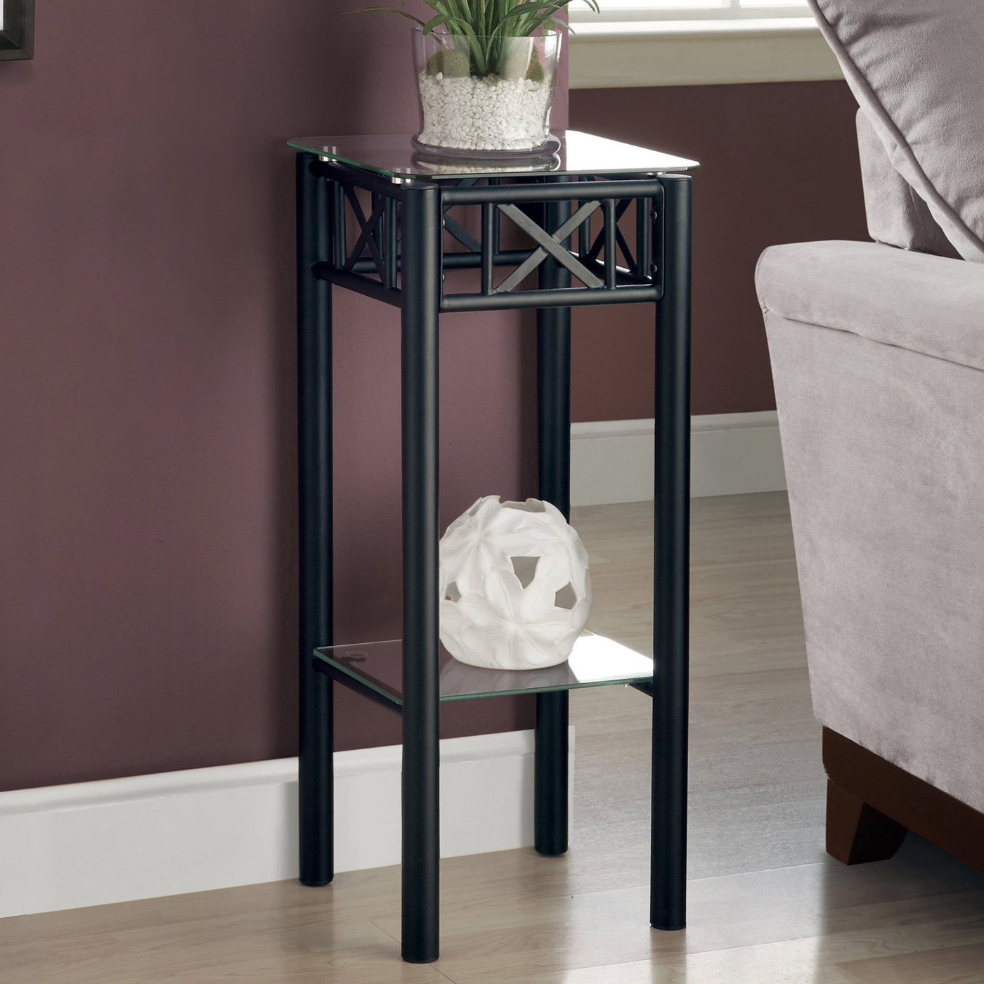 monarch specialties metal with tempered glass black accent table kitchen dining target dressers lucite room dark wood coffee drawers hobby lobby cement outdoor frog drum tall