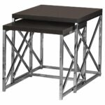 monarch specialties nesting table chrome metal accent cappuccino marble bronze set pcs kitchen dining mosaic outdoor loveseat sleeper round silver coffee floor wine rack mirrored 150x150