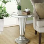 monarch specialties octagon shape pedestal accent table inch metal mirrored pottery barn legs black cube end trestle measurements skinny side sofa plans narrow nightstand sage 150x150