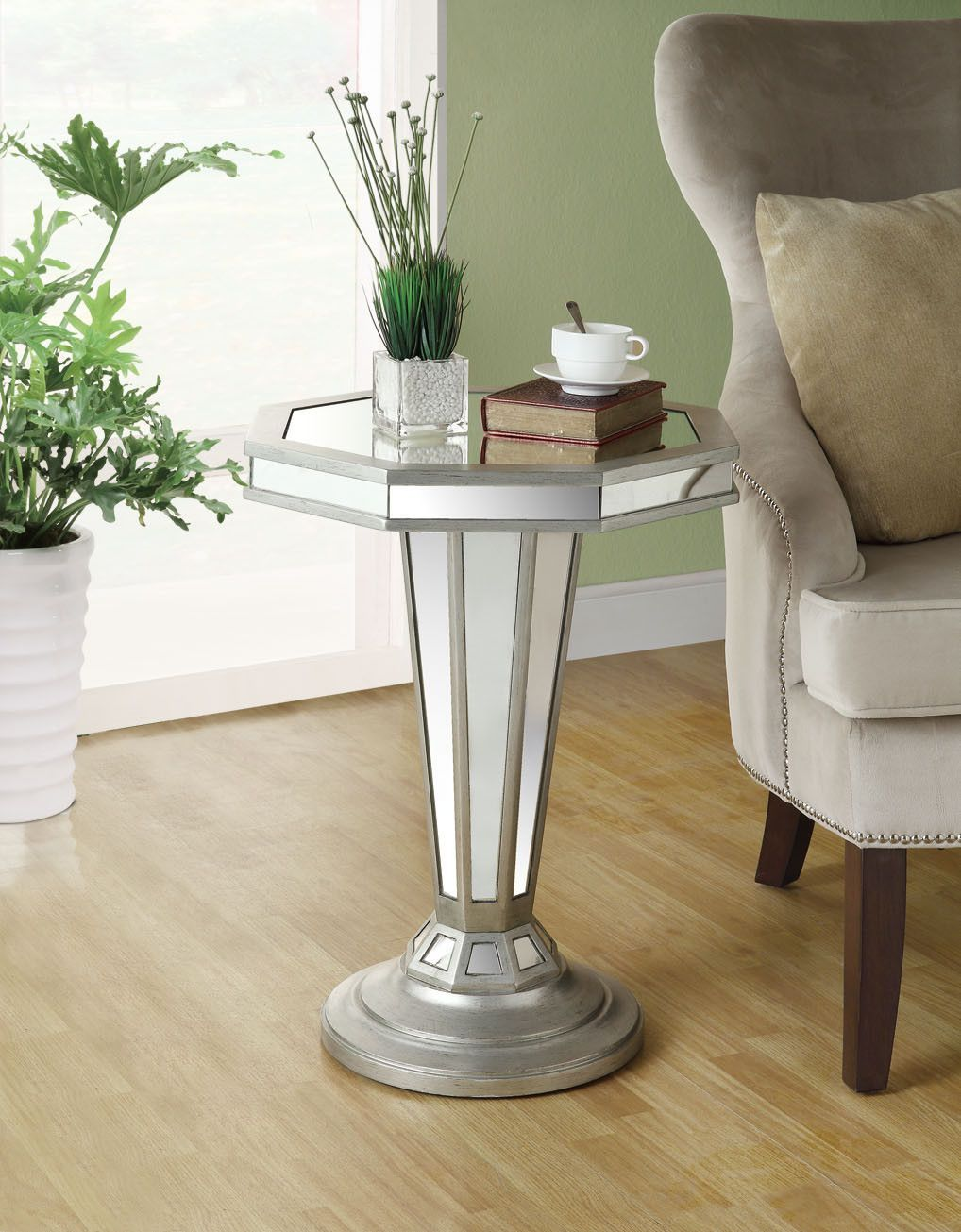 monarch specialties octagon shape pedestal accent table inch mirrored coffee bases for granite tops affordable lamps dining set accents bourse michelin small crystal beachy chairs