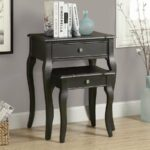 monarch specialties piece antique black accent table set brown nightstand reviews cube storage unit ikea small white desk end tables under mirrored bedside pier one chair covers 150x150