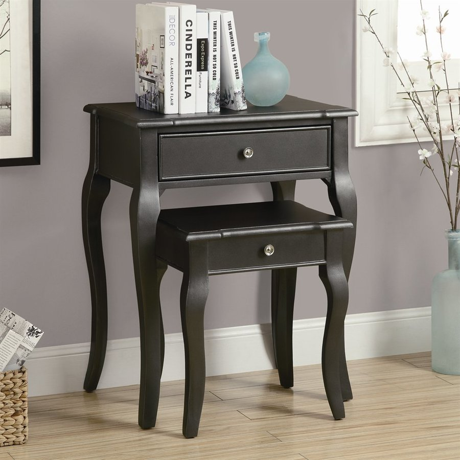monarch specialties piece antique black accent table set brown nightstand reviews cube storage unit ikea small white desk end tables under mirrored bedside pier one chair covers
