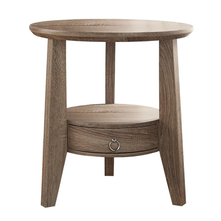 monarch specialties round single drawer accent table with inch nate berkus square dining glass top outdoor knotty pine vacuum furniture world mosaic patio wood and acrylic coffee