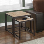 monarch specialties terracotta tile top hammered brown accent table cappuccino marble bronze metal stock bistro and chairs slate end tables antique drop leaf value harrietta piece 150x150