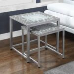 monarch specialties tile top piece gray blue accent table set round rattan end cloth runners black glass silver grey tablecloth west elm industrial coffee white lamp base oil 150x150