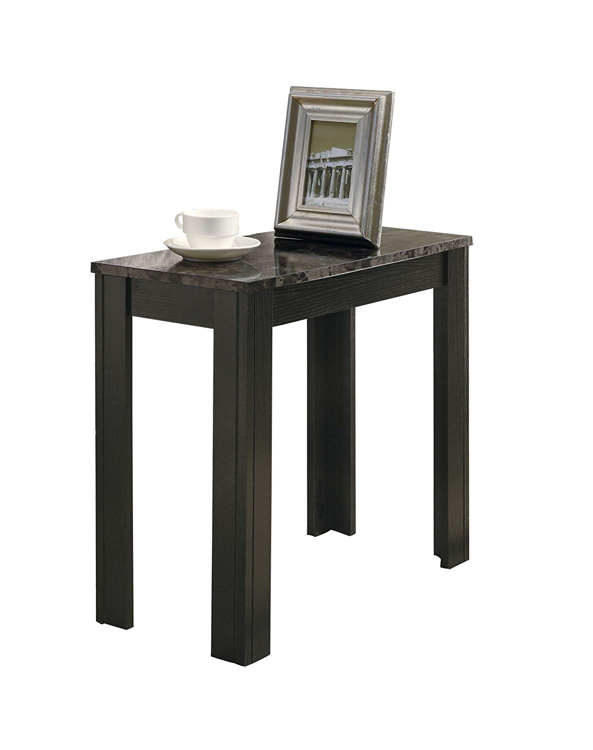 monarch specialties top accent side table cappuccino marble threshold home kitchen valley furniture used end tables purple bedside lamps pier outdoor pillows mainstays coffee