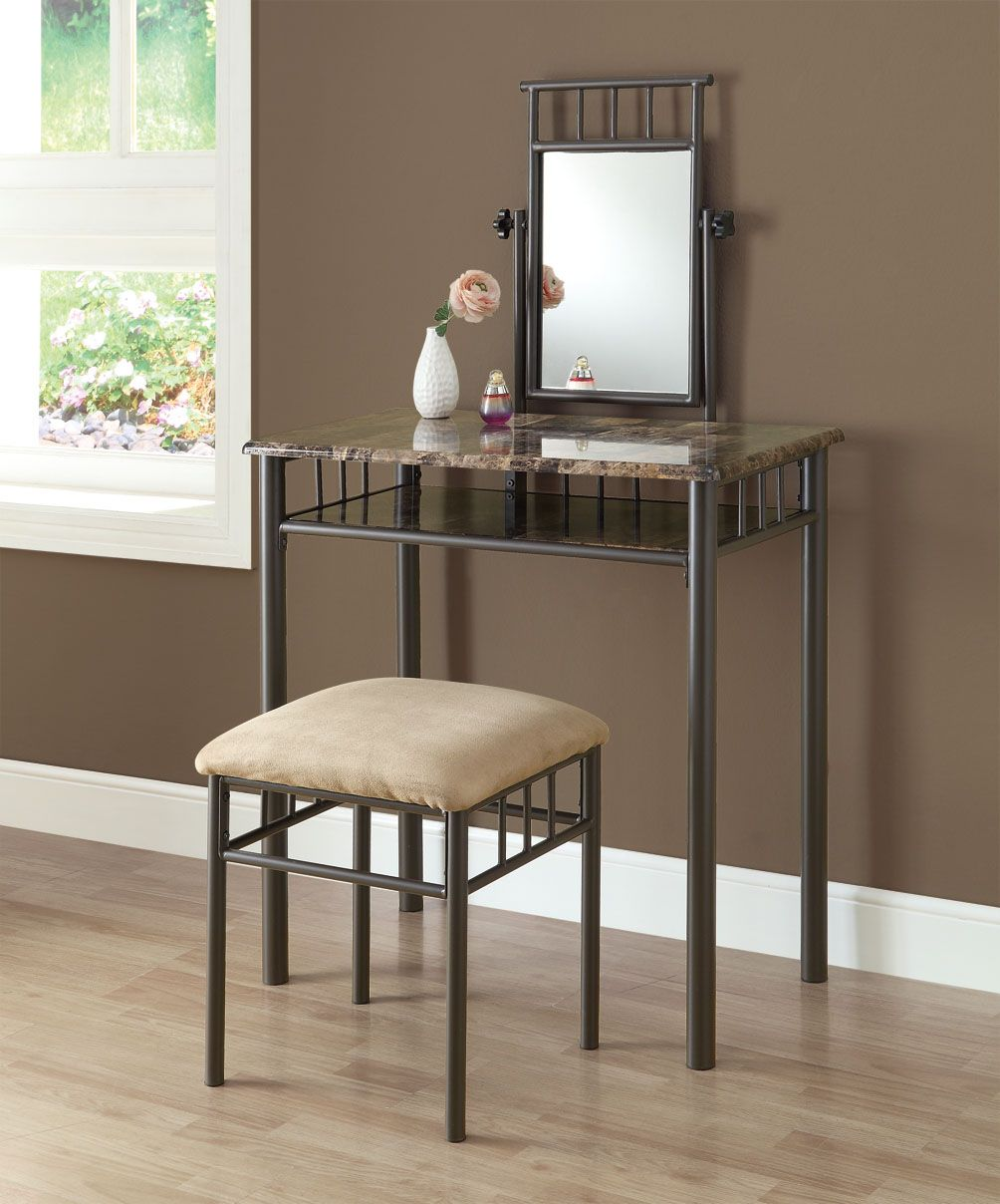 monarch specialties vanity set cappuccino marble spin prod accent table bronze metal ikea dining furniture magazine side harrietta piece white childrens desk pier imports mirrors