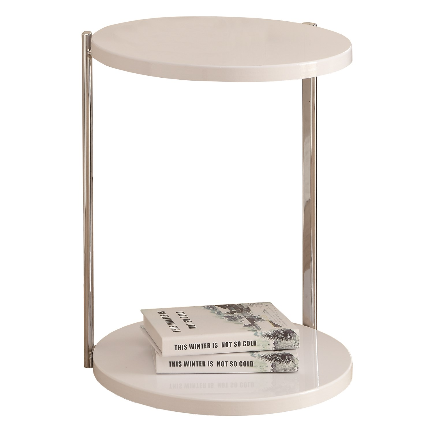 monarch specialties white chrome metal accent table square pedestal legs mirror effect bedside tables zinc nest narrow nightstand round trestle measurements orange lamp center