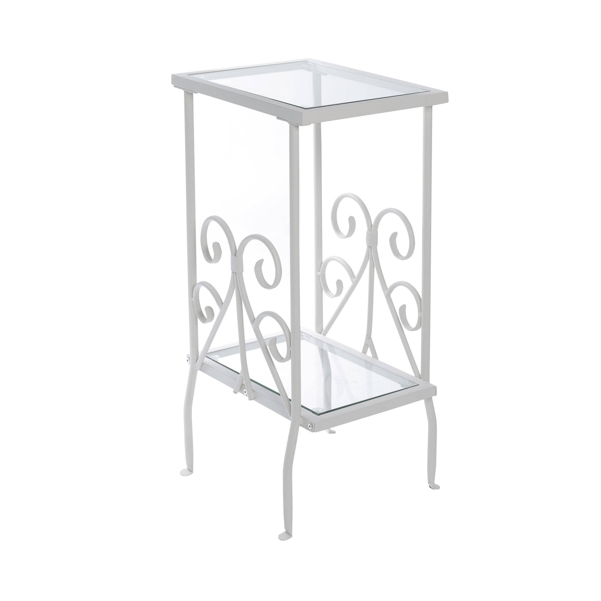 monarch specialties white clear glass accent table the classy home mnc mirrored chair patio set wood trestle dining real marble coffee accents bourse michelin target yellow side