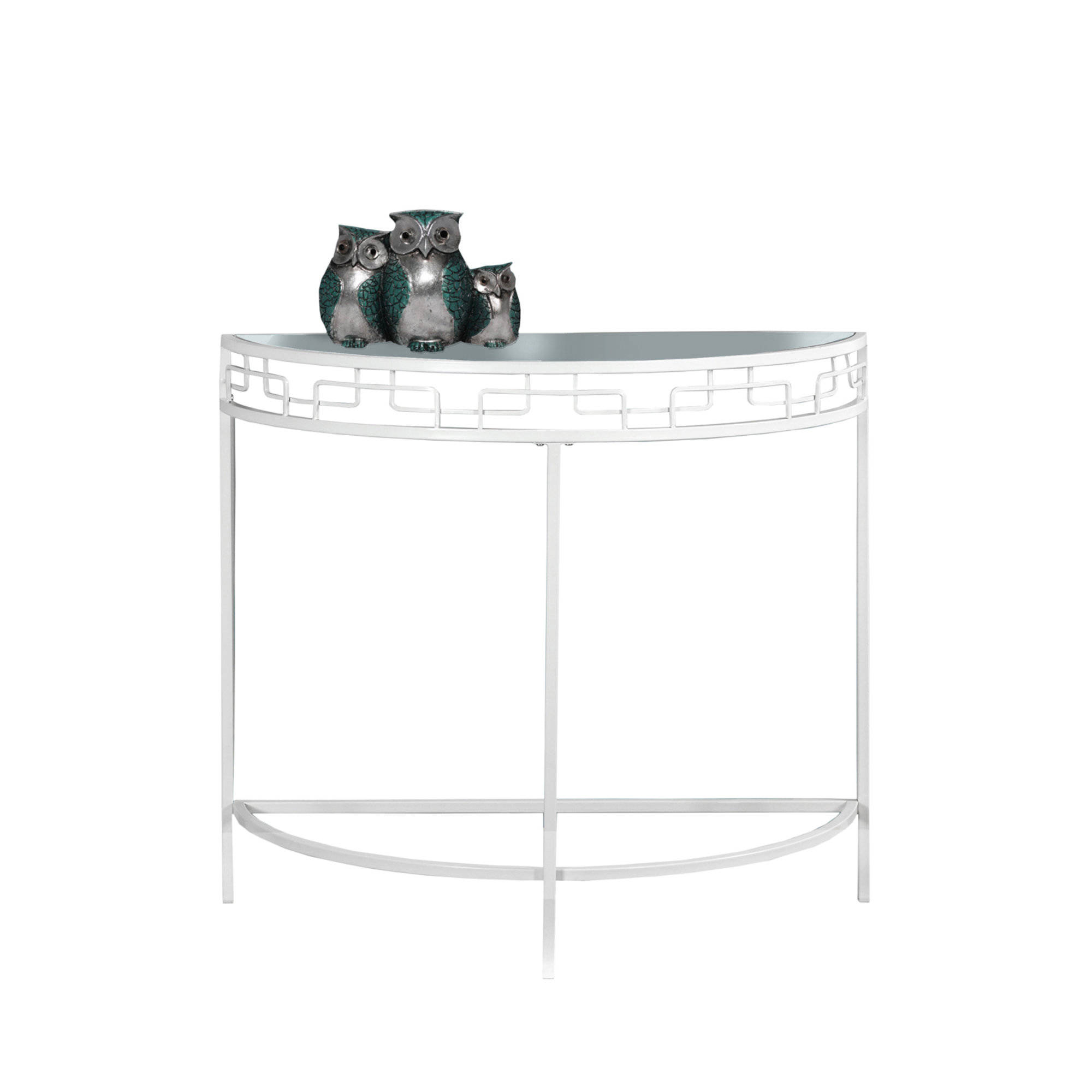 monarch specialties white clear glass hall console accent table mnc click enlarge outdoor grill end with shelf small drop leaf chairs cooler stand lounge clearance armchairs for