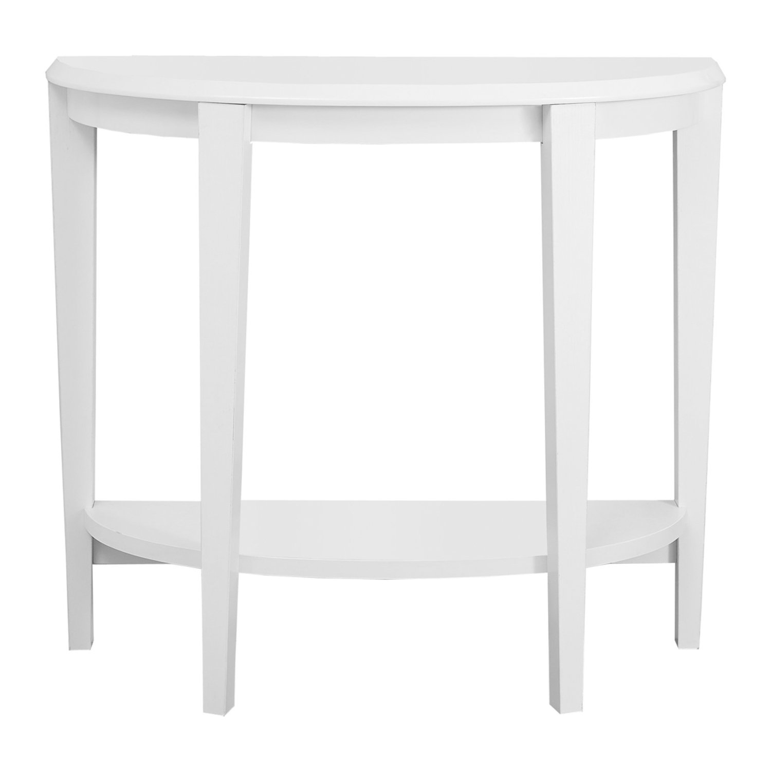 monarch specialties white hall console accent table inch kitchen dining cherry wood night armchairs for living room black lamp small folding bedside lights under ikea slim pottery