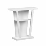 monarch specialties white hall console accent table the classy home mnc target small black lamp outdoor lounge chairs clearance vintage telephone grill armchairs for spaces 150x150