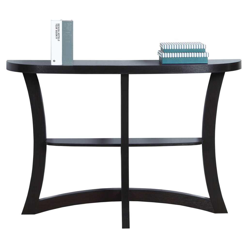 monarch two tier hall console accent table cappuccino kitchen dining small pedestal yellow dragonfly tiffany style lamp pier one ott chairs gold black piece set mosaic outdoor