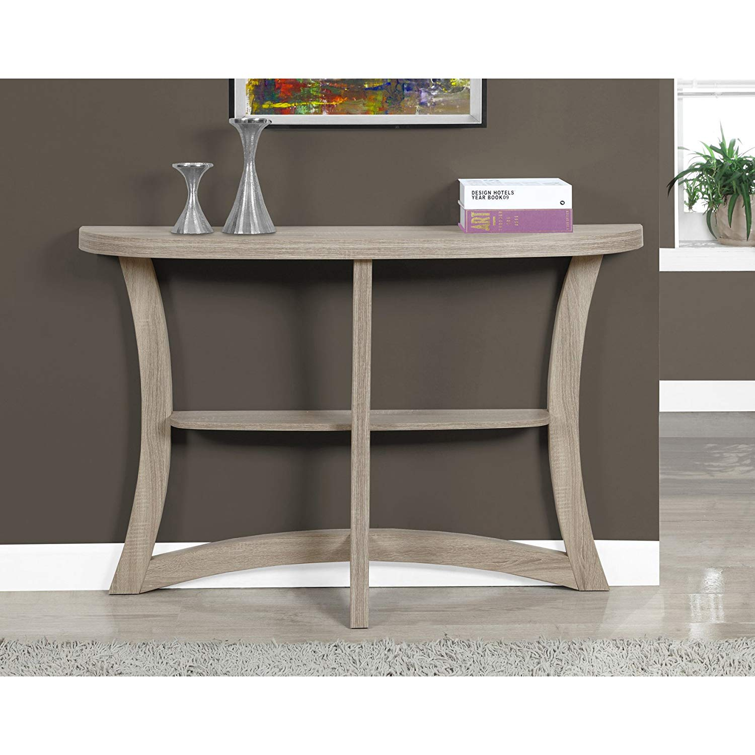monarch two tier hall console accent table dark cappuccino taupe kitchen dining cabinet door knobs pier one ott counter height room chairs plexiglass coffee black piece set living