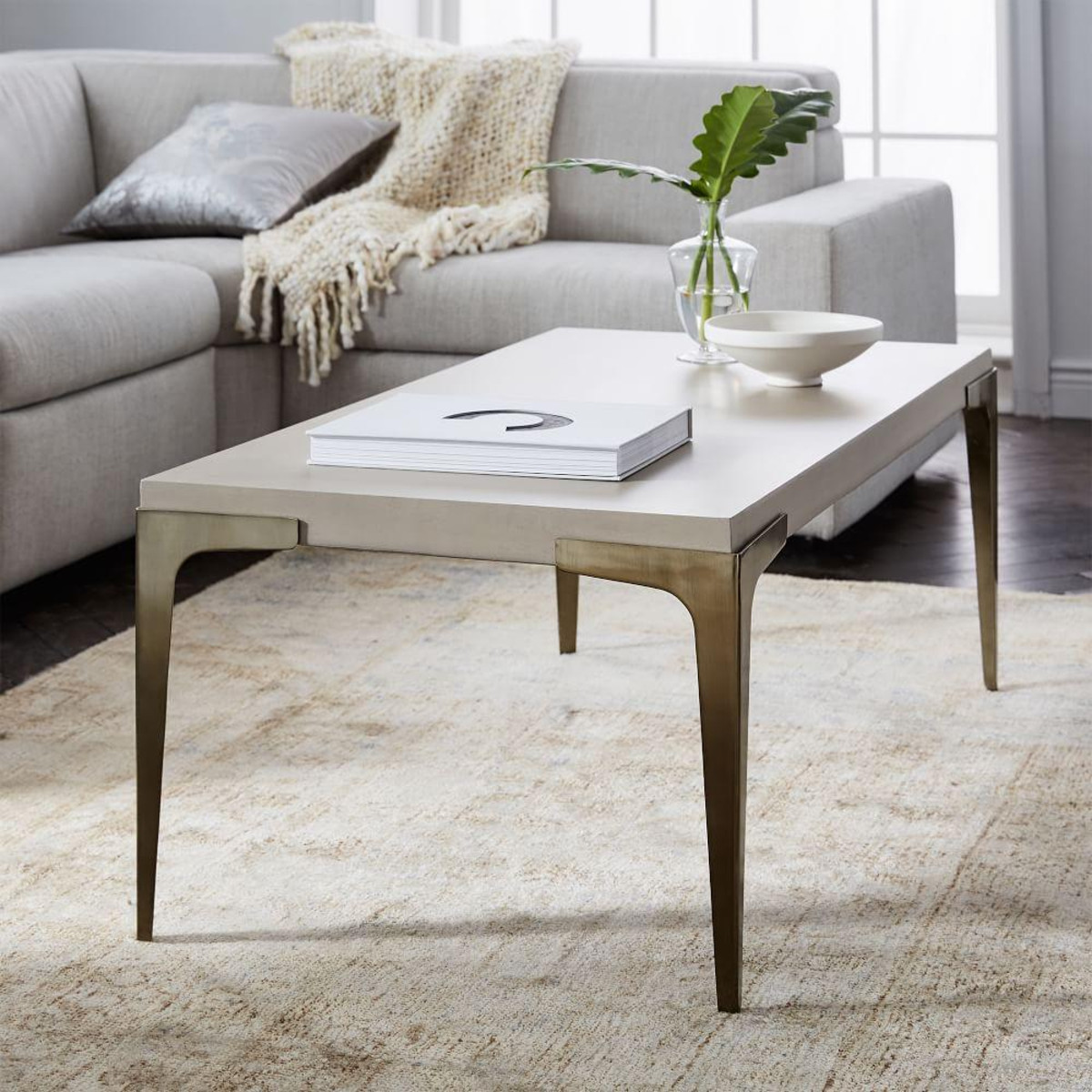 monoblock concrete coffee table metal legs tables damabianca info brass west elm accent ceramic ginger jar lamps super slim console black bedside lighting seattle cover for square