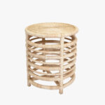 montauk natural rattan side table accent tables dear keaton outdoor wicker vinyl floor door strip dining set lack nightstand marble bedside with drawer modern lights pier one 150x150