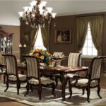 monterey dining table set gold accent shown antique walnut finish globe lighting portland round patio inch furniture legs mango wood caldwell side cloth home goods sets rattan 150x150