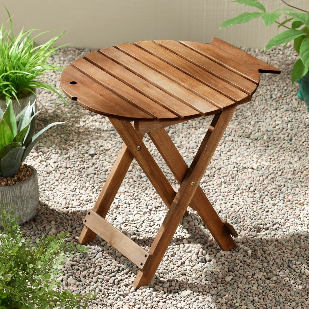 monterey natural wood outdoor side table teal island designs zaltana mosaic accent half moon with storage stump ikea bedside drawers affordable patio furniture occasional chair