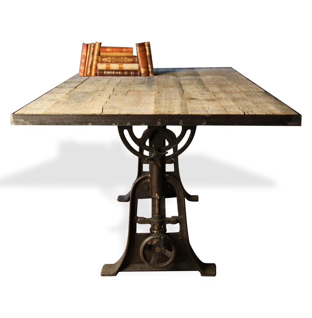monterrey industrial loft iron reclaimed wood adjustable height product accent table view full size bedroom furniture kijiji waterford crystal lamps modern glass replacement