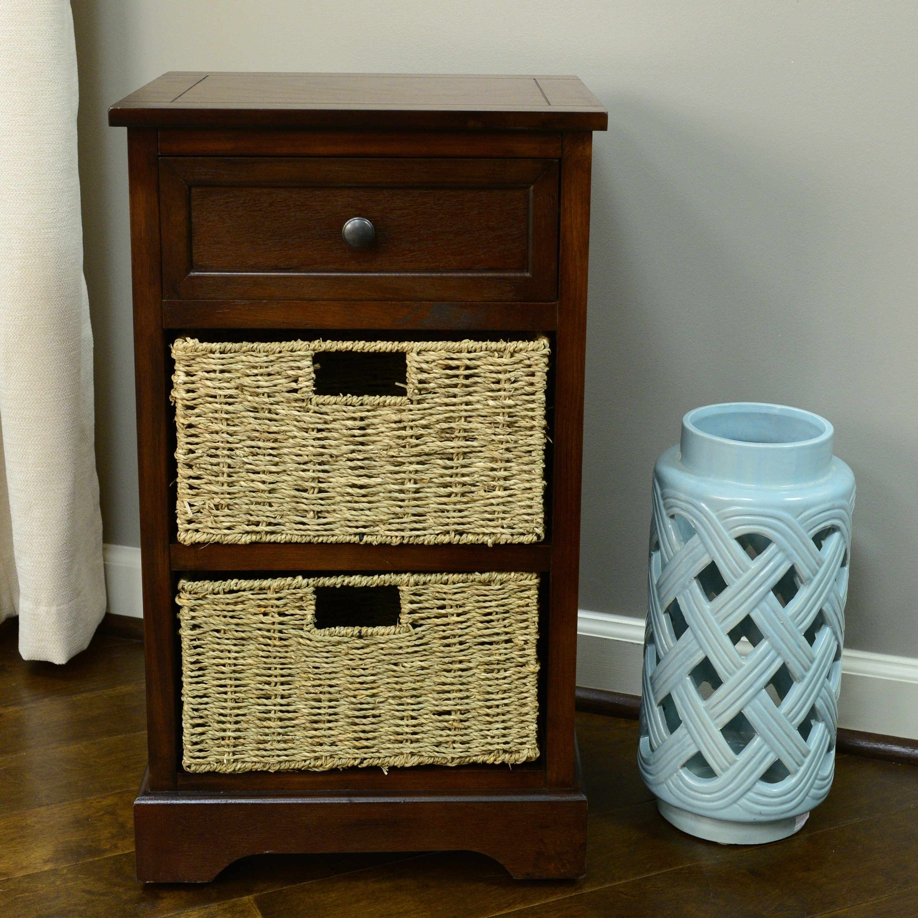 montgomery one drawer basket accent chest free table with drawers champagne ice bucket narrow glass end round black coffee living room console storage tall hallway reclaimed barn