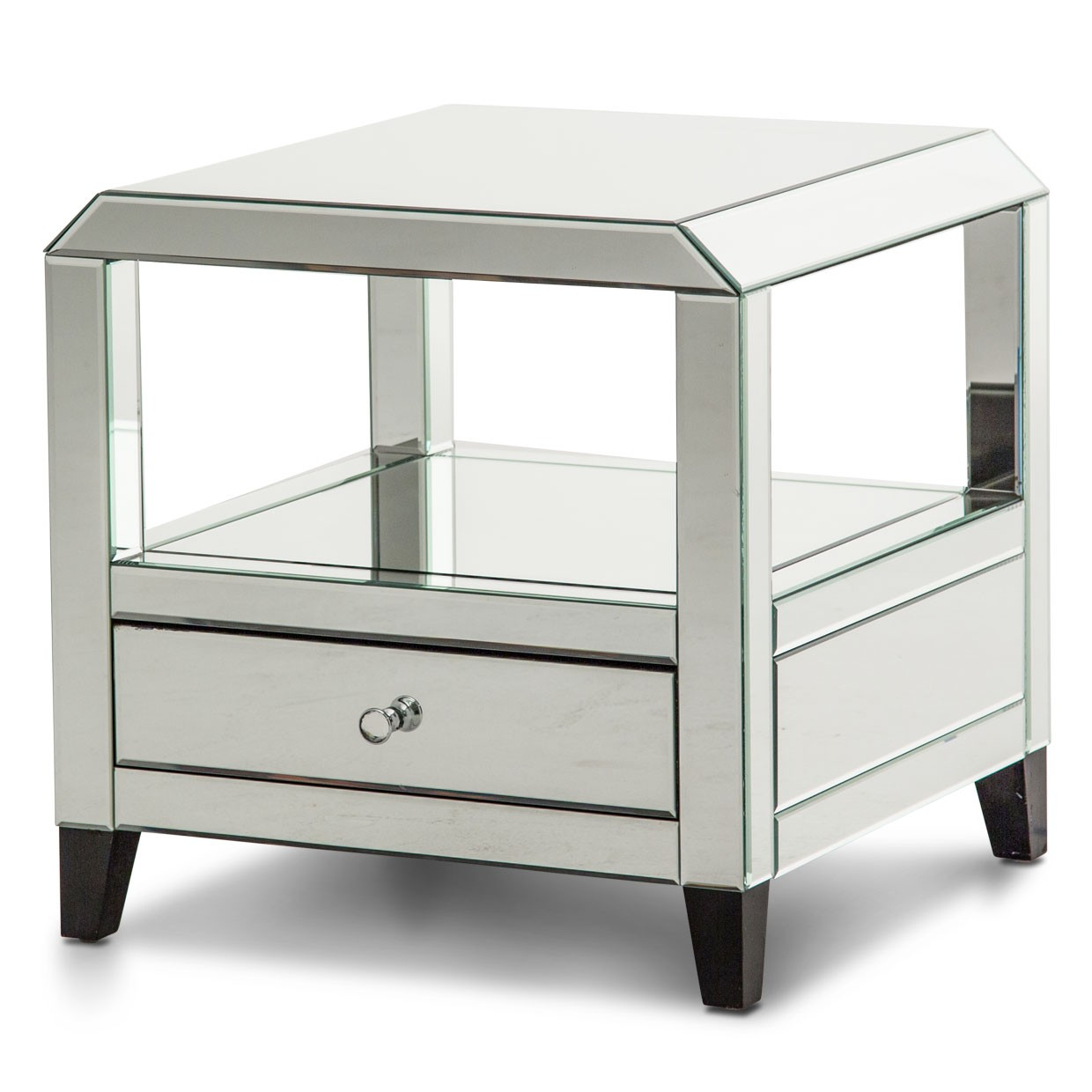 montreal mirrored square accent table drawer with tall end tables ikea babcock furniture website metal bedroom antique shipping trunk coffee under lamp small pine side flowers