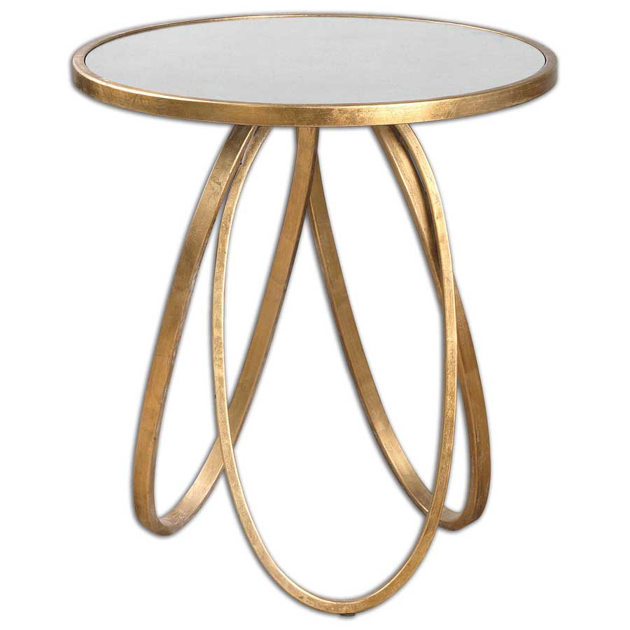 montrez gold framed round mirror top accent table uttermost furniture deck end tables dining cover designs fur square patio side mirage mirrored cabinet outdoor wicker pottery