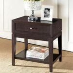 morgan dark brown end table wood accent modern and nightstand tiffany lamps blue lamp circular nest tables white resin coffee glass brass hobby lobby dining room full size 150x150