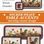 morning rooster wicker weave table accents farm and country accent placemat braided jute with design perfect kitchen decor setting ethan allen leather furniture triangle lime 150x150