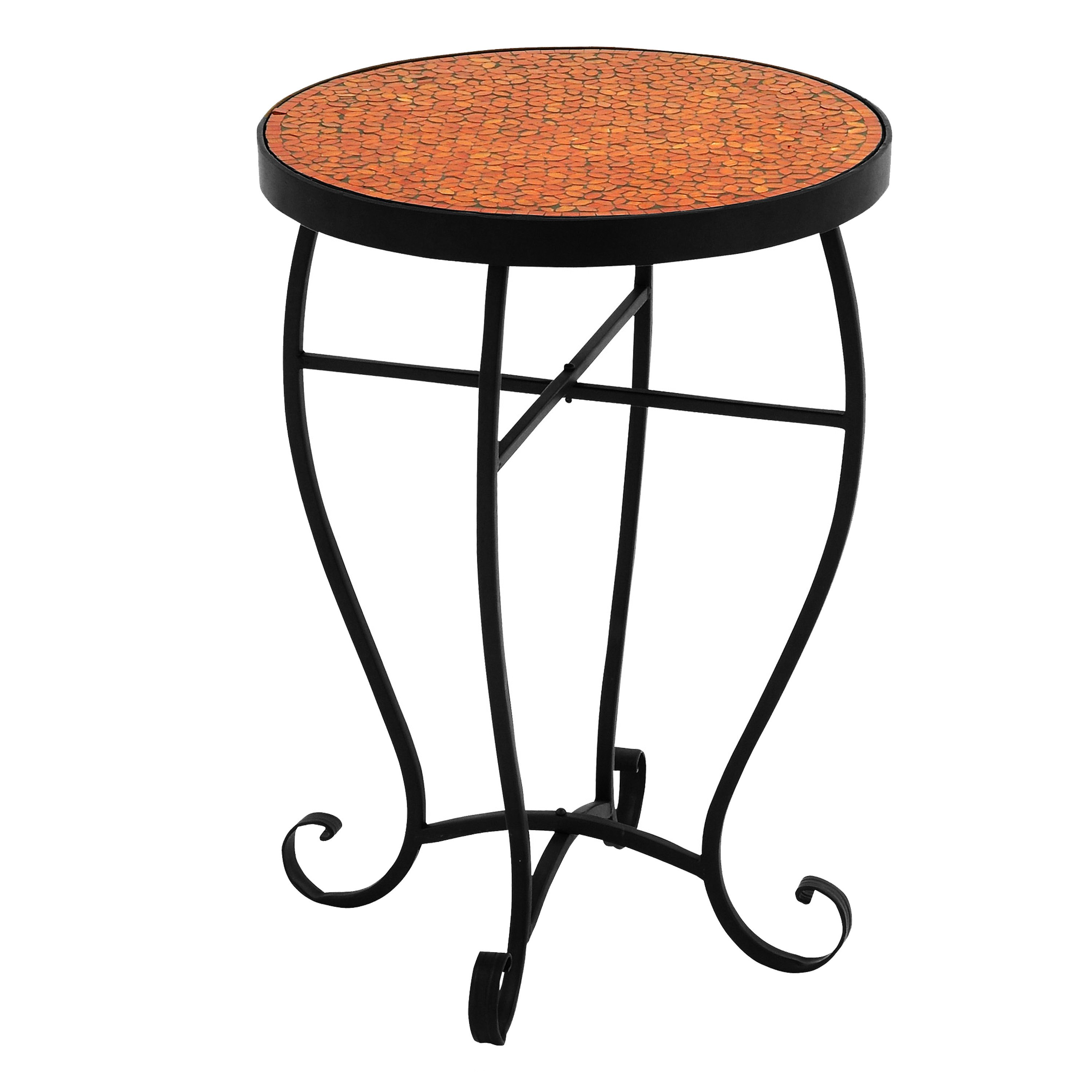 moroccan mosaic orange red round side accent table free shipping today cocktail tables and end cement dining room blue white porcelain lamp small living with storage short narrow