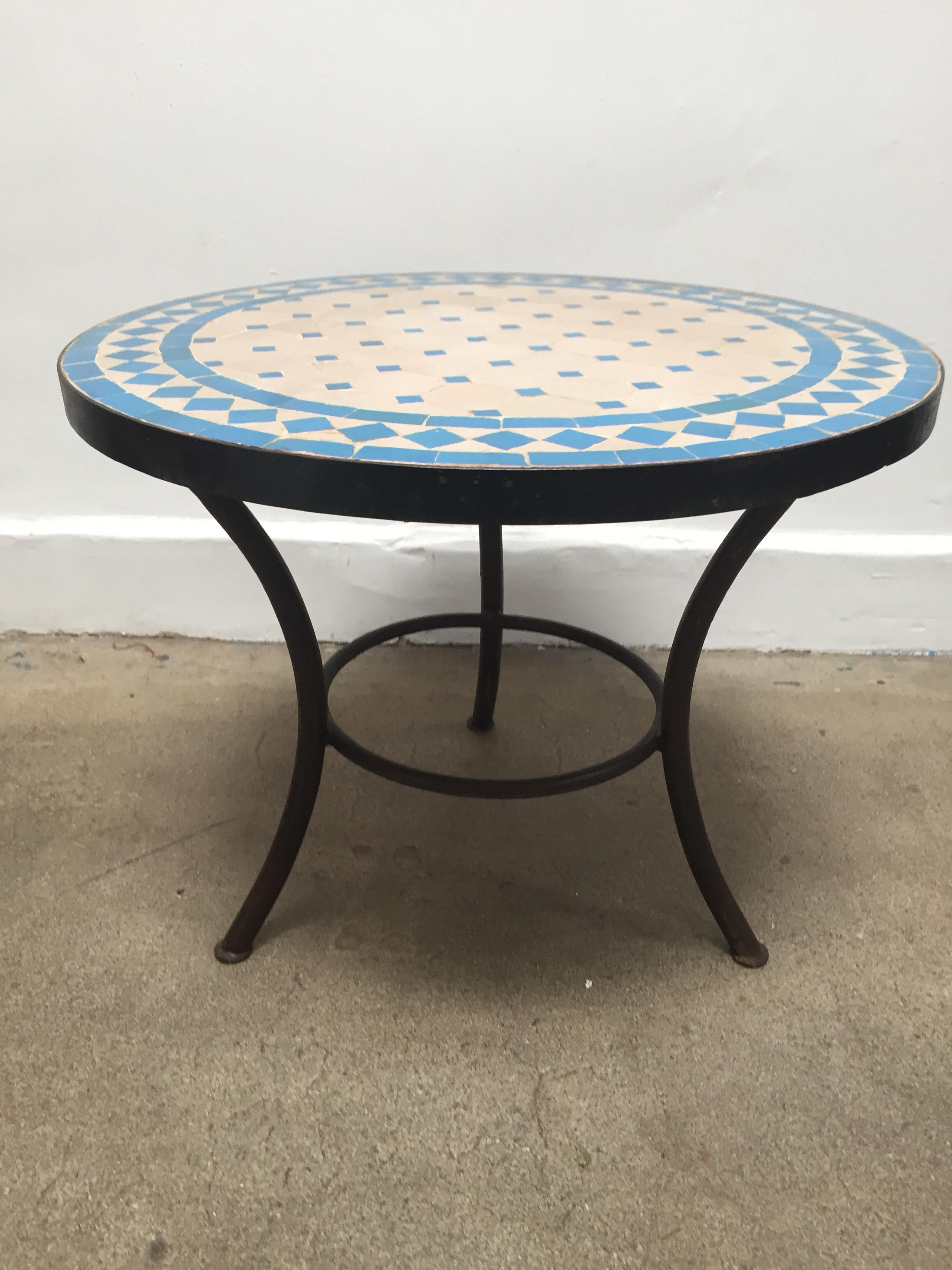 moroccan mosaic outdoor turquoise tile side table low iron base mobilejpegupload master for occasional furniture vintage replica target console website design meyda tiffany lamp