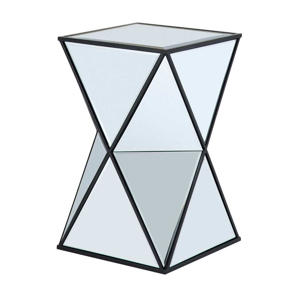 morrison angular mirror accent table american home furniture hendrix tbl black mirrored bedside west elm globe lamp inexpensive end tables threshold windham box ikea trestle bench