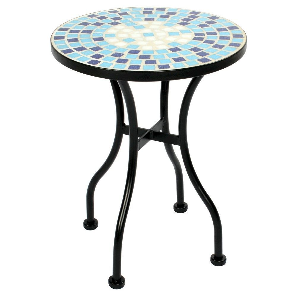 mosaic accent table blue threshold mosaics and products target metal patio silver coffee red lamp small furniture glass desk sedona royal chinese shades laminated cotton