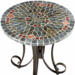 mosaic accent table jigsy decmode traditional inch round zaltana outdoor patio verazze zoom pier imports white wicker coffee affordable furniture the living room small iron side 150x150