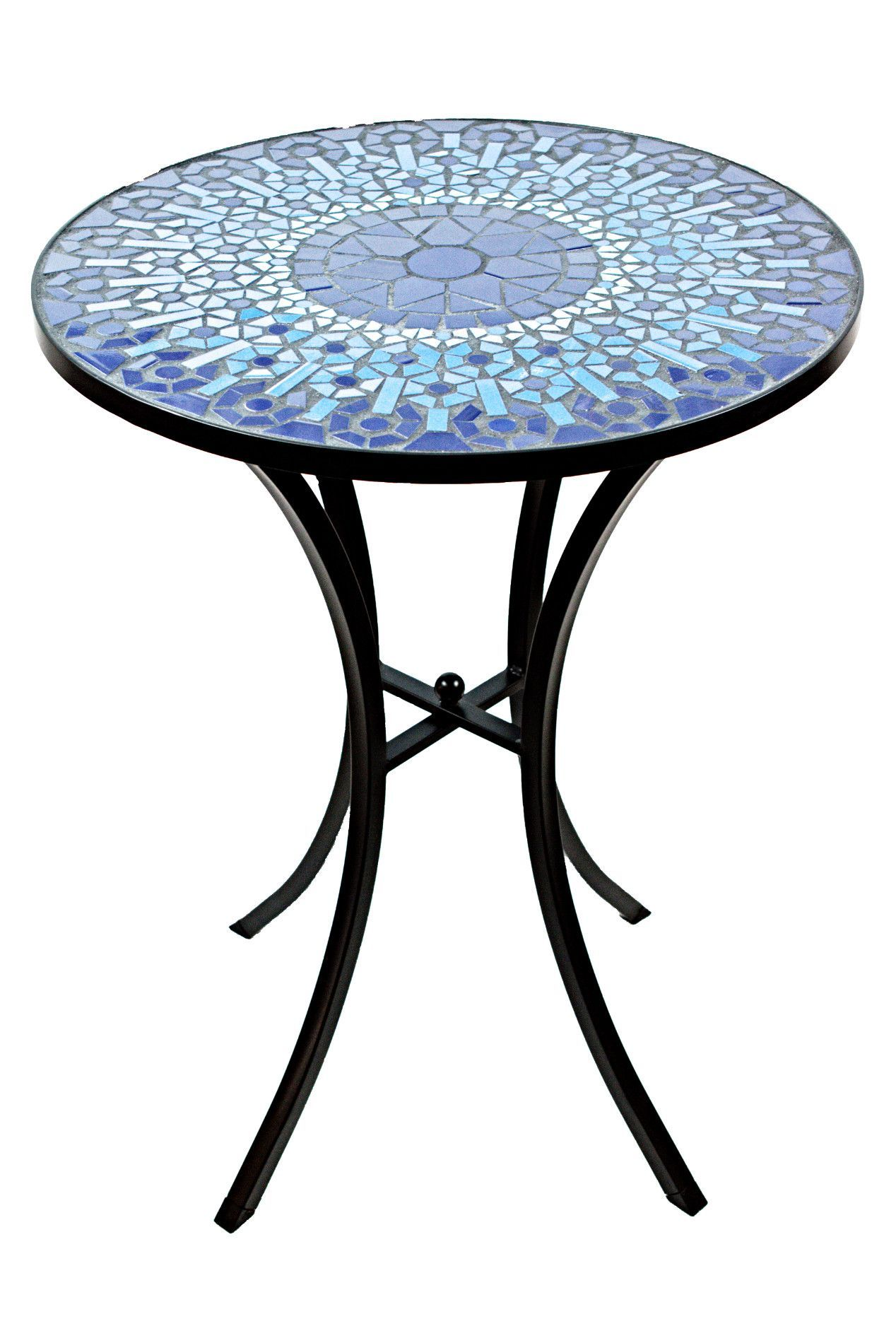 mosaic accent table mosaico art furniture indoor this ceramic tile adds elegance any outdoor decor the intricate pattern handcrafted for impeccable finish and grey coffee