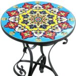 mosaic accent table vinnymo sunflower kohls dining room furniture garden stool mid century modern replica mirrored console cabinet trestle small centerpieces pedestal plant stand 150x150