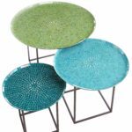 mosaic outdoor accent table home interior design trends zaltana annabelle blue piece coffee set pier teal occasional chair end tables with doors and storage affordable patio 150x150