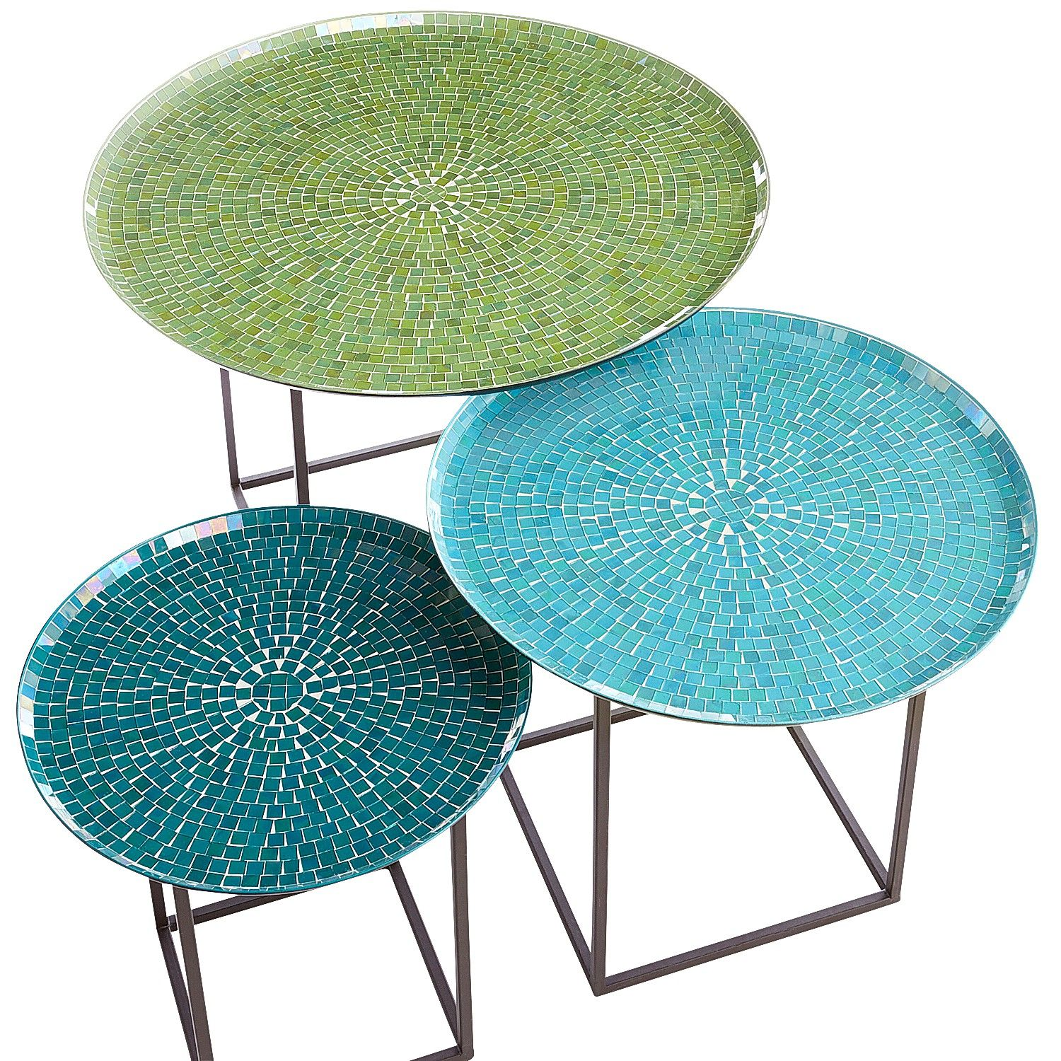 mosaic outdoor accent table home interior design trends zaltana annabelle blue piece coffee set pier teal occasional chair end tables with doors and storage affordable patio