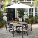 mosaic outdoor dining table perfect round patio and chairs with palazetto barcelona set zaltana accent awesome titan teak seater white side rattan glass top room essentials lamp 150x150
