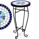mosaic outdoor side table blue garden bistro marble tables red accent dining with umbrella hole runner cabinets bunnings tablecloth for round battery powered lamp small cordless 150x150