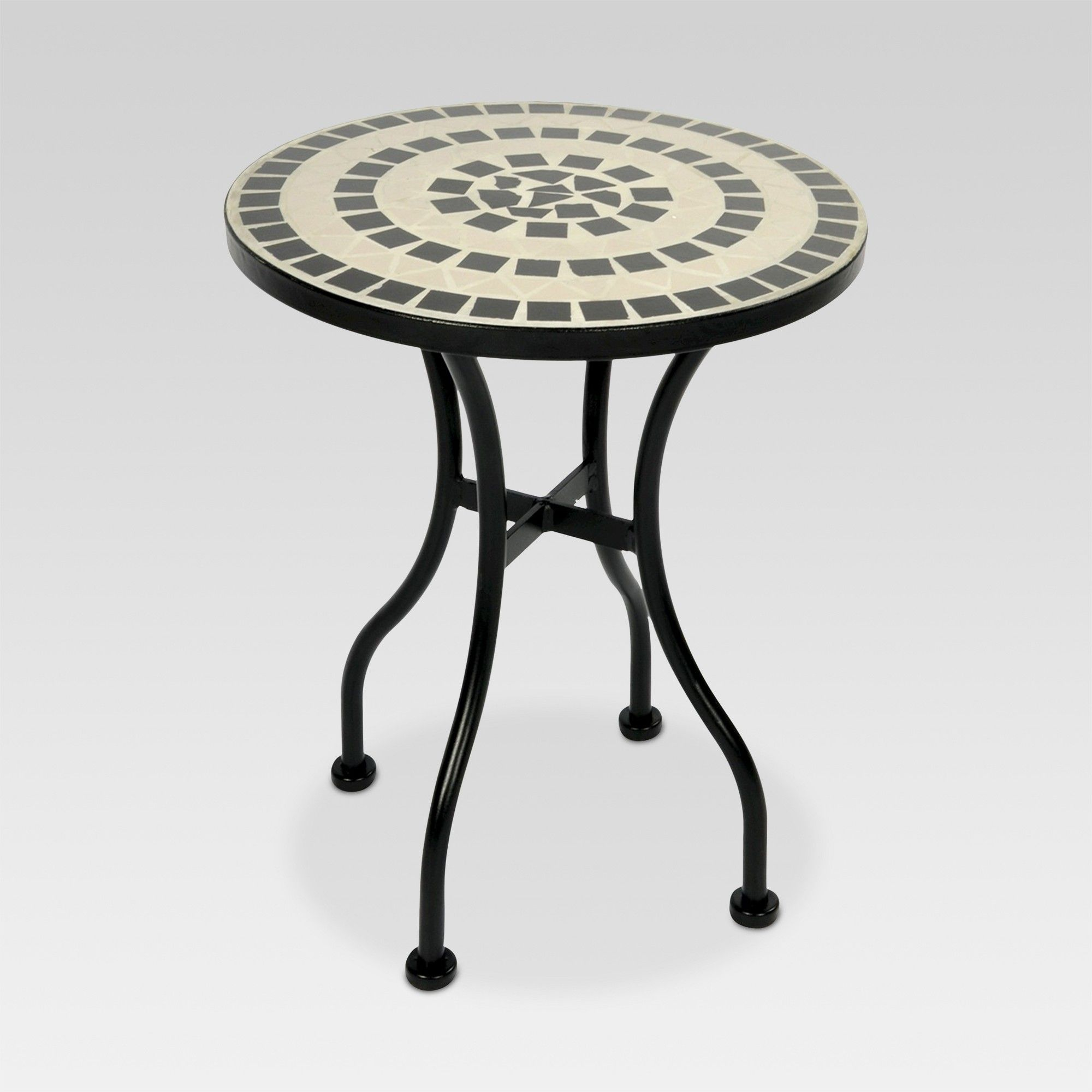 mosaic patio accent table white threshold black round brass end and area rugs modern square ashley furniture wooden bedside designs marble dinner side for living room plastic